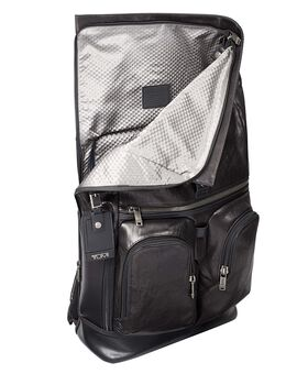 London Roll Top Leather Backpack Alpha Bravo