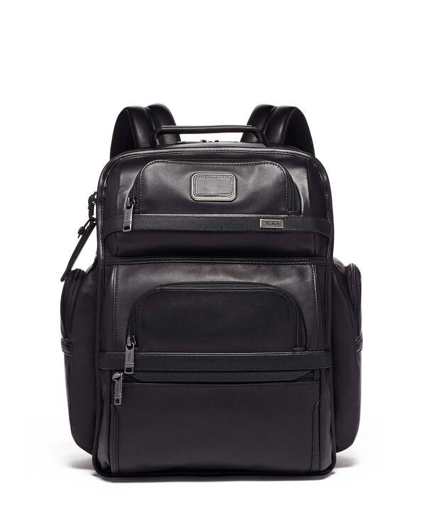 Alpha 3 Sac à dos en cuir TUMI T-Pass® Business Class Brief Pack®
