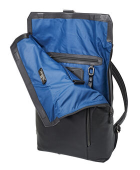 Kenton Foldover Leather Backpack Ashton