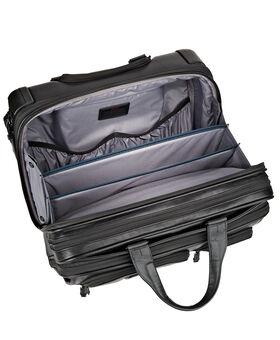 Porte-documents de luxe en cuir à quatre roues avec étui pour ordinateur Alpha 2
