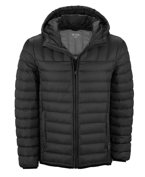 TUMIPAX Outerwear Crossover Hooded Jacket